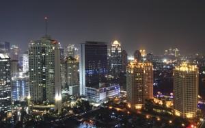 ジャカルタモダンシティビルナイトインドネシア